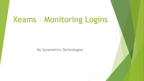 xeams monitor secure logins video